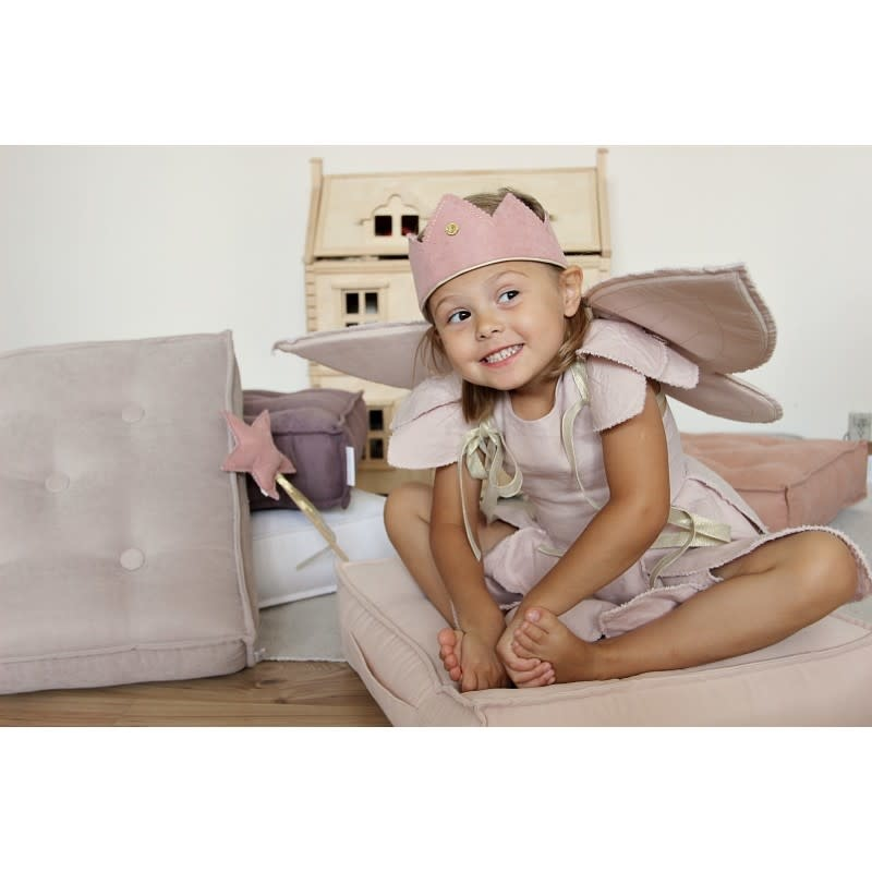 Cotton & Sweets Quilted Pouf Powder Pink