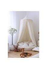 Cotton & Sweets Boho Sheepskin Star Pillow Vanilla