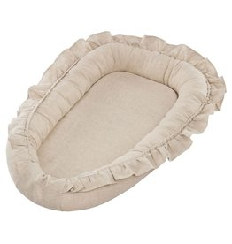 Cotton & Sweets Pure Nature Baby Nest With Ruffles Natural
