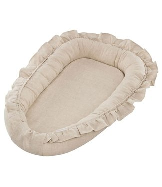 Cotton & Sweets Pure Nature Babynest With Ruffles Natural