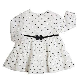 Gymp Dress Off White Dog Print Allover