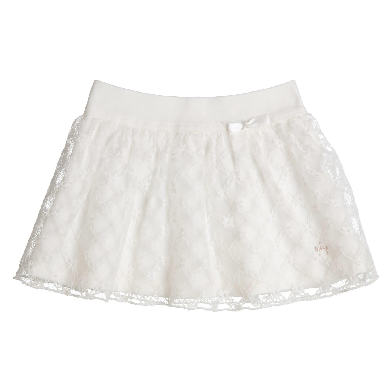 Gymp Skirt Off White Flower Borderie