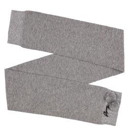 Gymp Grey Scarf Sparkle Zilver Pompom