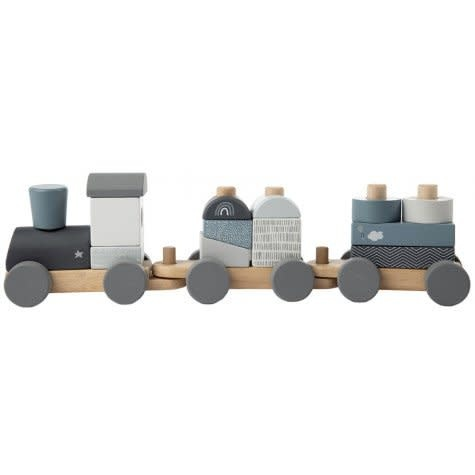 Label Label Stacking Train Blue