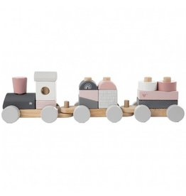 Label Label Stacking Train Pink