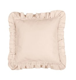 Cotton & Sweets Simply Glamour Pillow With Ruffles Nude