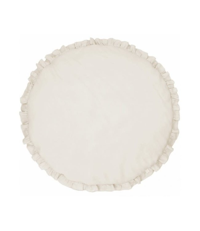 Cotton & Sweets Linen Playmat With Ruffles Natural
