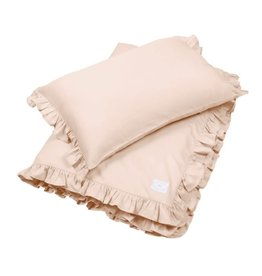 Cotton & Sweets Simply Glamour Bed Linen Junior With Ruffles Nude