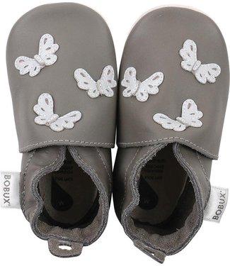 Bobux Soft Sole Grey Butterflies