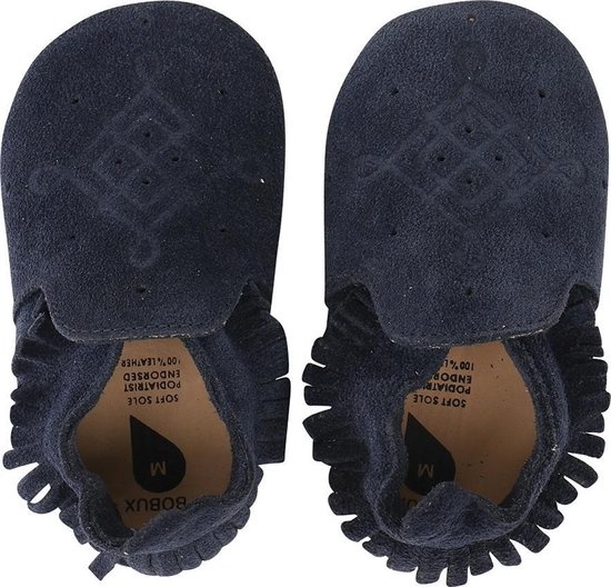 Bobux Soft Sole Suede Moccasin Navy