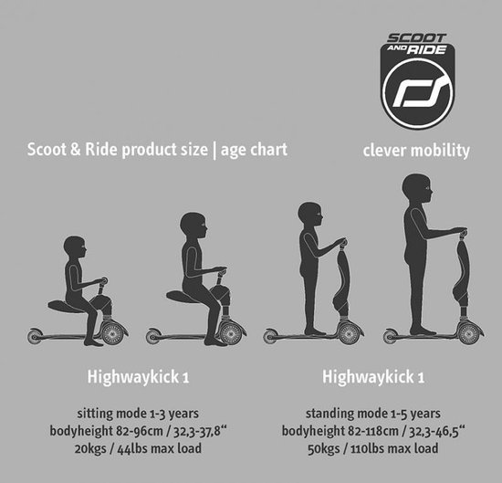 Scoot and Ride Highwaykick 1 Ash
