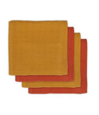Jollein Bamboe Multiedoek Sall 70 x 70 cm Mustard/Rust