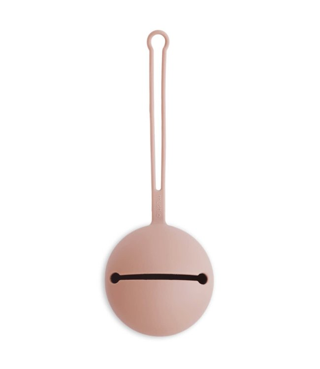 Mushie Silicone Fopspeenhouder Pacefier Case Blush