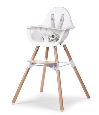 Childhome Evolu 2 Stoel Naturel/Wit