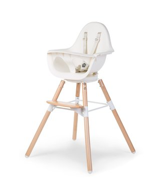 Childhome Evolu One 80° Stoel Naturel/Wit