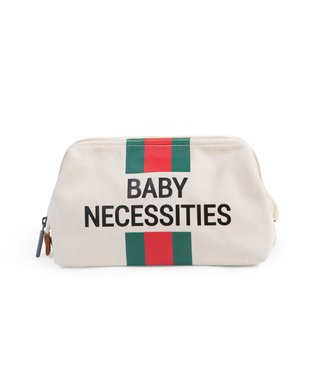 Childhome Baby Necessities Canvas Off-White Stripes Red-Green