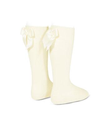 Condor Knee-High Socks With Back Bow Cava