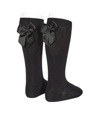 Condor Knee-High Socks With Back Bow Black