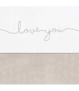 Jollein Laken Wieg 75 x 100cm Love You Nougat