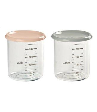 Beaba Set Maxi Portions Nude/Grijs 240 ml