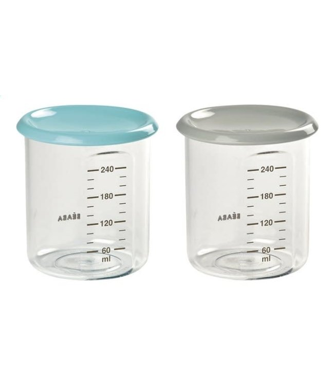 Beaba Set Maxi Portions Blauw/Grijs 240 ml