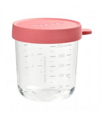 Beaba Glazen Bewaarpotje 250ml Dark Pink