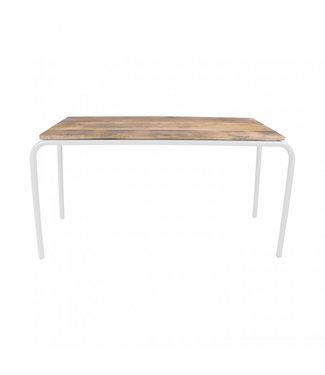 Kidsdepot Original Table Wood - White Metal