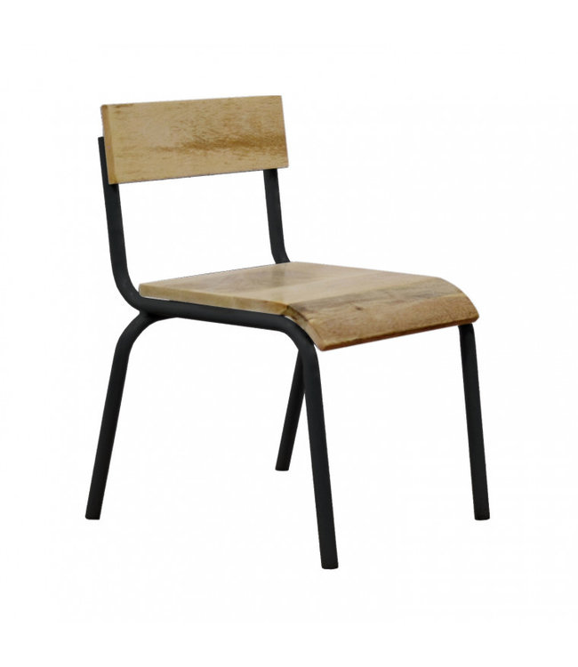 Kidsdepot Original Chair Wood - Black Metal