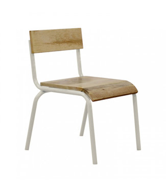 Kidsdepot Original Chair Wood - White Metal