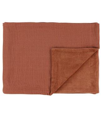 Les Rêves d'Anais Fleece Blanket 75 x 100cm Bliss Rust