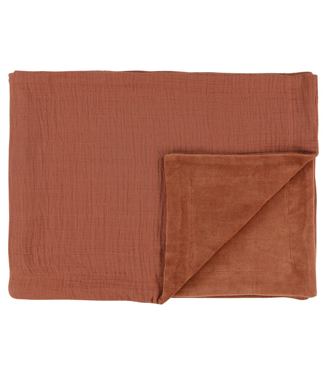 Les Rêves d'Anais Fleece Blanket 75 x 100cm Bliss Rust