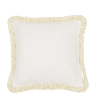 Cotton & Sweets Boho Border Pillow Vanilla / Vanilla