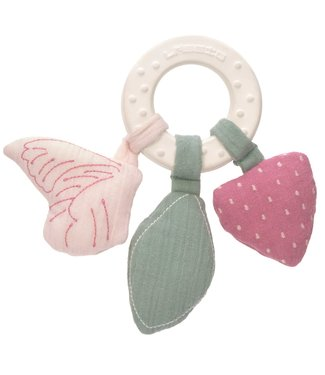 Lassig Teether Ring Natural Rubber Butterfly