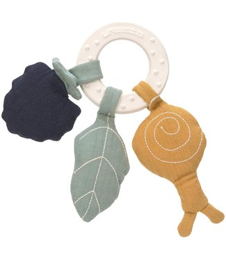 Lassig Teether Ring Natural Rubber Snail