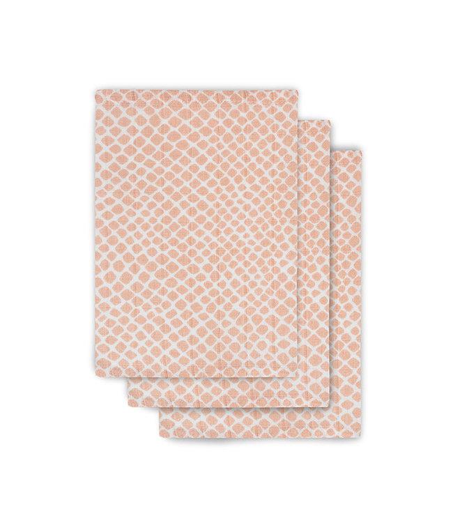 Jollein Set 3 Hydrofiele Washandjes Pale Pink