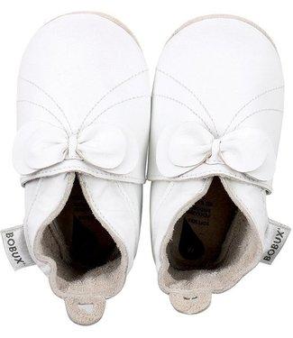 Bobux Soft Sole White Bow
