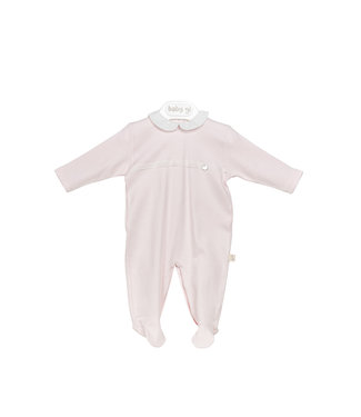 Baby Gi Cotton Onesie Pink Lace Detail
