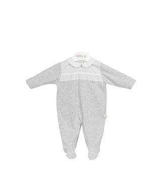 Baby Gi Cotton Onesie Grey - White Detail