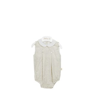 Baby Gi Romper Sand With Collar Dots