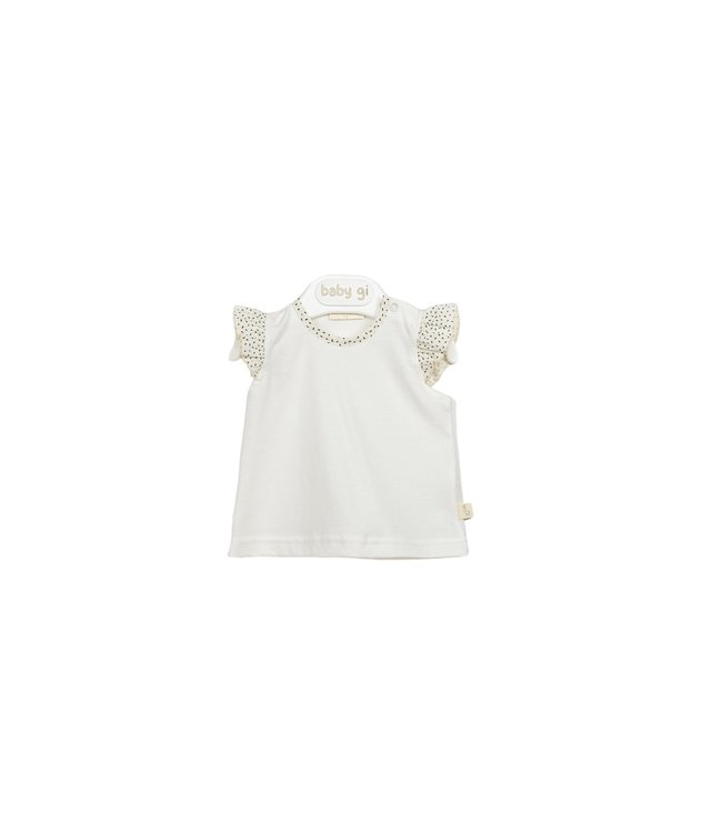 Baby Gi Top Sand With Angel Sleeves Dots