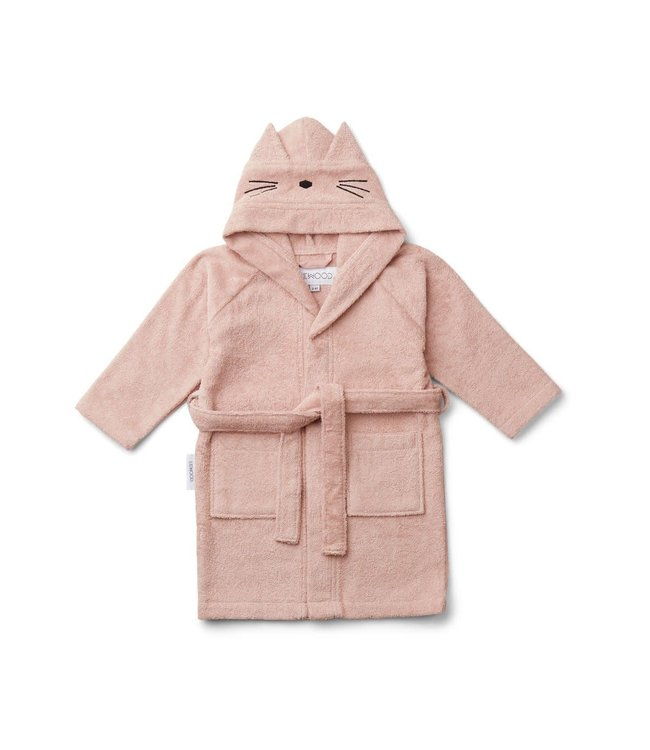 Liewood Lilly Bathrobe Cat Rose