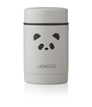 Liewood Nadja Food Jar Panda Light Grey