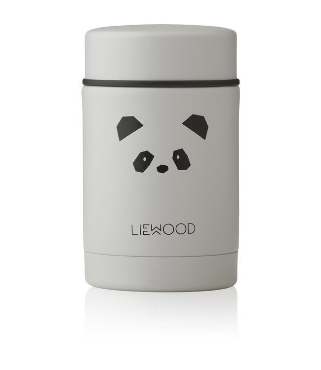Liewood Nadja Food Jar Panda Light Grey