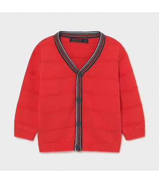 Mayoral Knitted Dressy Cardigan Red