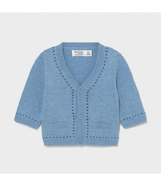 Mayoral Light Blue Knitted Cardigan