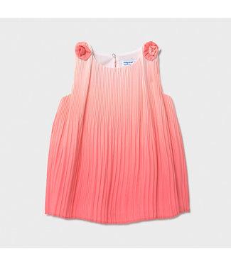 Mayoral Coral Tie Dye Dress