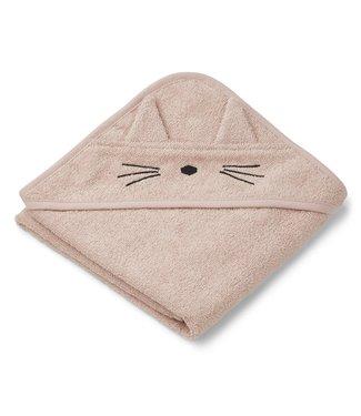 Liewood Augusta Hooded Towel Cat Rose