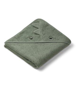 Liewood Augusta Hooded Towel Dino Faune Green