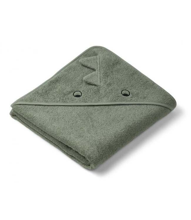 Liewood Augusta Hooded Towel Dino Faune Green