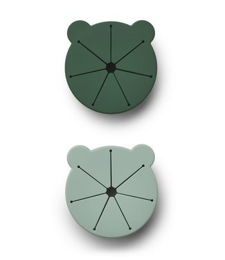 Liewood Kelly Snack Cup 2-Pack Mr Bear Green Mix
